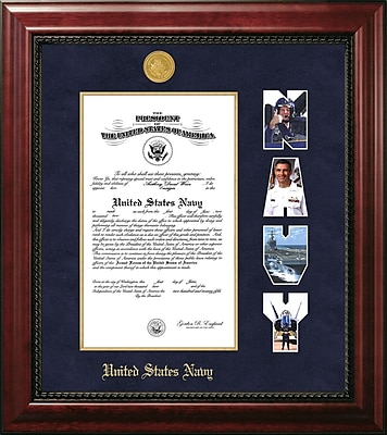 PATF Navy Certificate Executive Picture Frame; 9'' x 14''