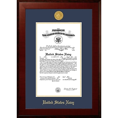 PATF Navy Certificate Honors Picture Frame; 10'' x 14''