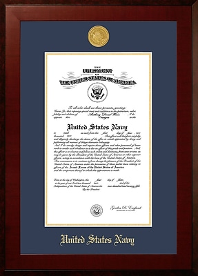 PATF Navy Certificate Honors Picture Frame; 9'' x 14''