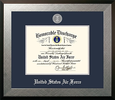 PATF Air Force Discharge Honors Picture Frame; 10'' x 8''