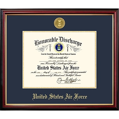 PATF Air Force Discharge Petite Picture Frame; 10'' x 8''