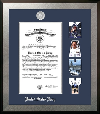 PATF Navy Certificate Honors Picture Frame; 8.5'' x 11''