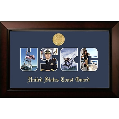 PATF Coast Guard Collage Photo Legacy Picture Frame; Gold