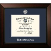 PATF Navy Discharge Legacy Picture Frame; Silver