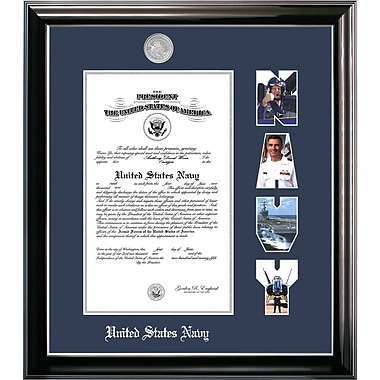 PATF Navy Certificate Classic Picture Frame; 11'' x 14''