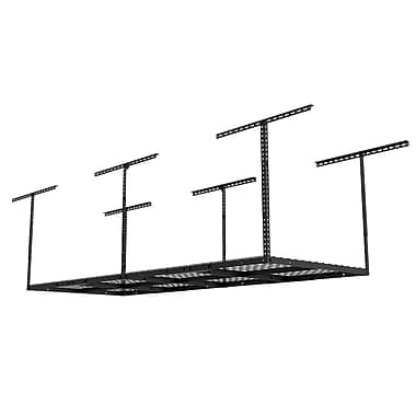 FLEXIMOUNTS Heavy Duty Garage Adjustable Ceiling Hanging Organizer; Black