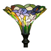 Warehouse of Tiffany Iris 72'' Torchiere Floor Lamp