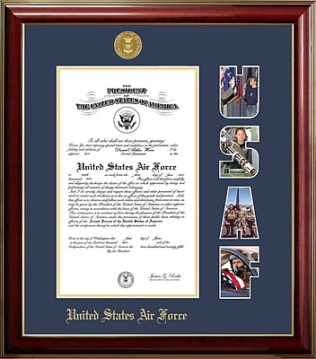 PATF Air Force Certificate Classic Picture Frame; 10'' x 14''