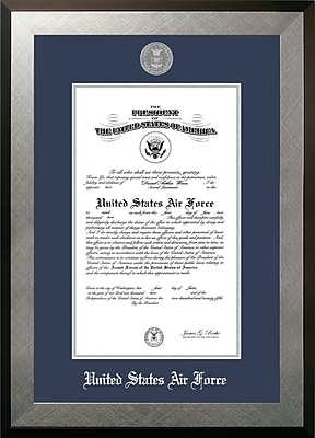 PATF Air Force Certificate Honors Picture Frame; 9'' x 14''