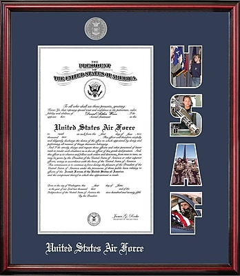 PATF Air Force Certificate Petite Picture Frame; 8.5'' x 11''
