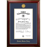PATF Navy Certificate Classic Picture Frame; 8'' x 10''