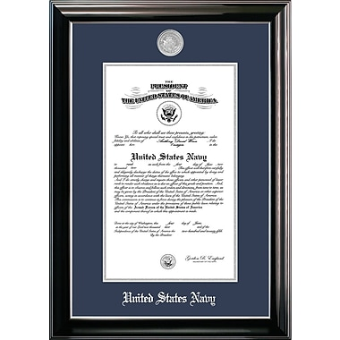 PATF Navy Certificate Classic Picture Frame; 9'' x 14''
