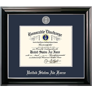 PATF Air Force Discharge Classic Picture Frame; 11'' x 8.5''