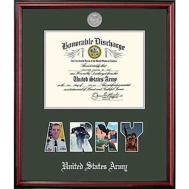 PATF Army Discharge Petite Picture Frame; 8'' x 10''