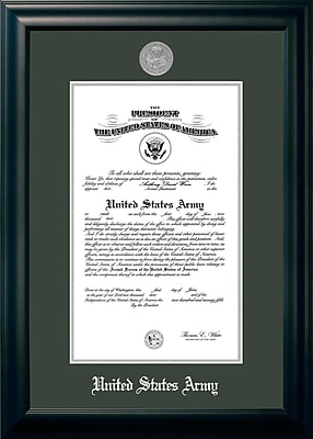 PATF Army Certificate Picture Frame; 10'' x 14''