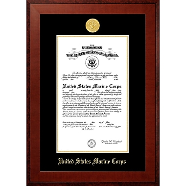 PATF Marine Certificate Honor Picture Frame; 9'' x 14''