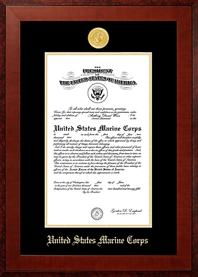 PATF Marine Certificate Honor Picture Frame; 11'' x 14''