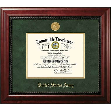 PATF Army Discharge Executive Picture Frame; 14'' x 11''