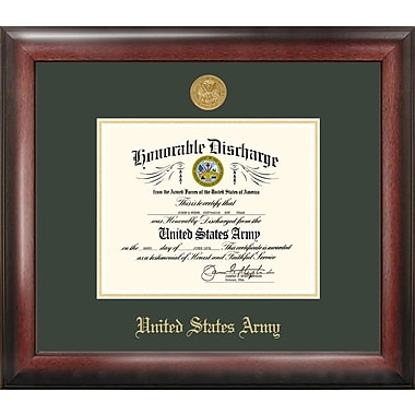 PATF Army Discharge Picture Frame; 8'' x 10''