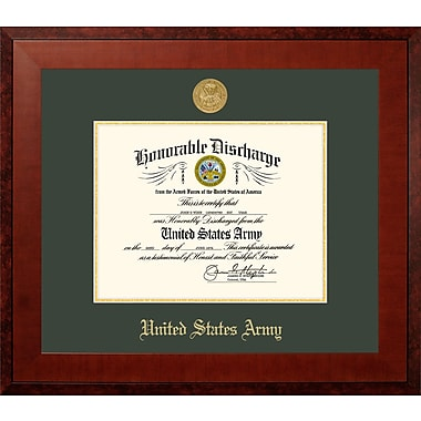 PATF Army Discharge Honor Picture Frame; 14'' x 11''