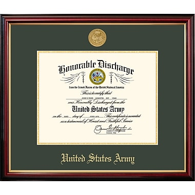 PATF Army Discharge Petite Picture Frame; 11'' x 8.5''
