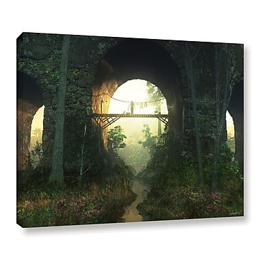 Latitude Run 'Bridge Under The Bridge' Photographic Print on Wrapped Canvas; 14'' H x 18'' W x 2'' D