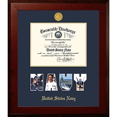PATF Navy Discharge Honors Picture Frame
