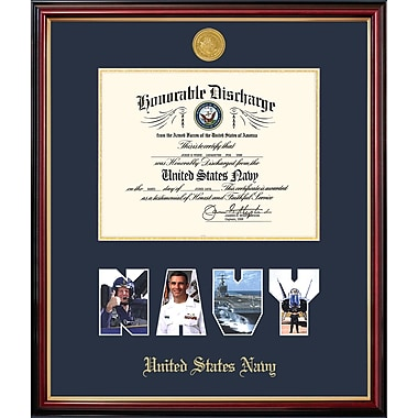 PATF Navy Discharge Petite Picture Frame