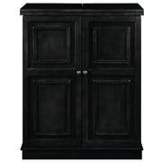 RAM Game Room Bar Cabinet; Black