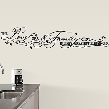 SweetumsWallDecals Lifes Greatest Blessing Wall Decal; Black