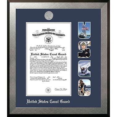 PATF Coast Guard Certificate Honors Picture Frame; 10'' x 14''