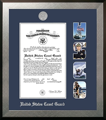 PATF Coast Guard Certificate Honors Picture Frame; 8.5'' x 11''