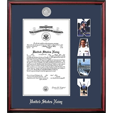 PATF Navy Certificate Petite Picture Frame; 9'' x 14''
