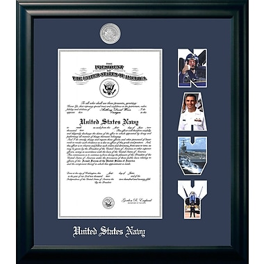 PATF Navy Certificate Picture Frame; 8'' x 10''