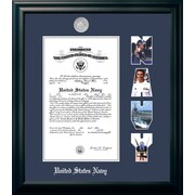 PATF Navy Certificate Picture Frame; 8.5'' x 11''