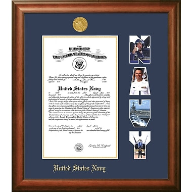 PATF Navy Certificate Picture Frame; 10'' x 14''