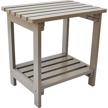 Shine Company Inc. Side Table; Taupe Gray