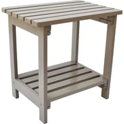 Shine Company Inc. Side Table; Taupe Gray