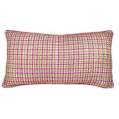 Edie Inc. Double Grid Cord Lumbar Pillow; Fuchsia