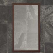 Ronbow Alina Wall Mirror; Dark Cherry