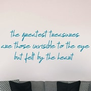 SweetumsWallDecals The Greatest Treasures Wall Decal; Teal