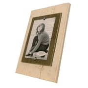 Matchstix Picture Frame; White/Chocolate