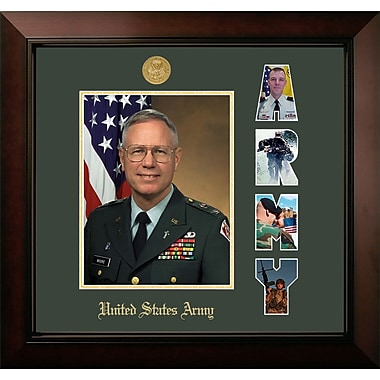 PATF Army Portrait Legacy Picture Frame; Gold