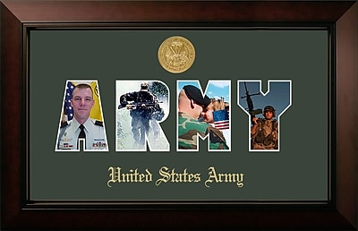 PATF Army Collage Photo Legacy Picture Frame; Gold