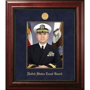 PATF Coast Guard Portrait Executive Picture Frame; Gold/Mahogany