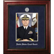 PATF Coast Guard Portrait Executive Picture Frame; Silver