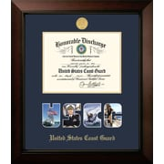 PATF Coast Guard Discharge Legacy Picture Frame; Gold