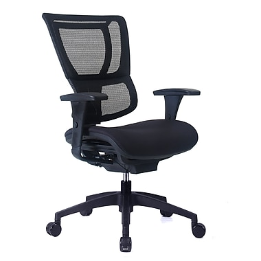 Staples Professional Series 1500TF Chair, Mesh Back & Fabric Seat, Ebony