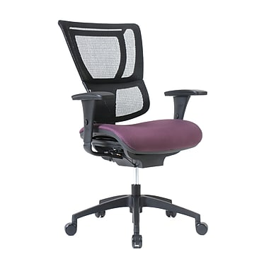Staples Professional Series 1500TF Chair, Mesh Back & Fabric Seat, Eggplant