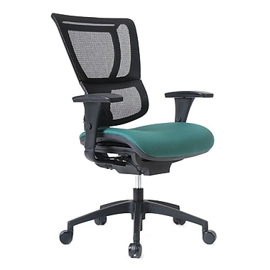Staples Professional Series 1500TF Chair, Mesh Back & Fabric Seat, Forest